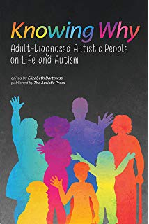 "Image is a picture of the book ""Knowing Why: Adult-Diagnosed People on Life and Autism."""