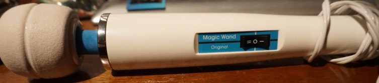 Hitachi Magic Wand Laying On Desk