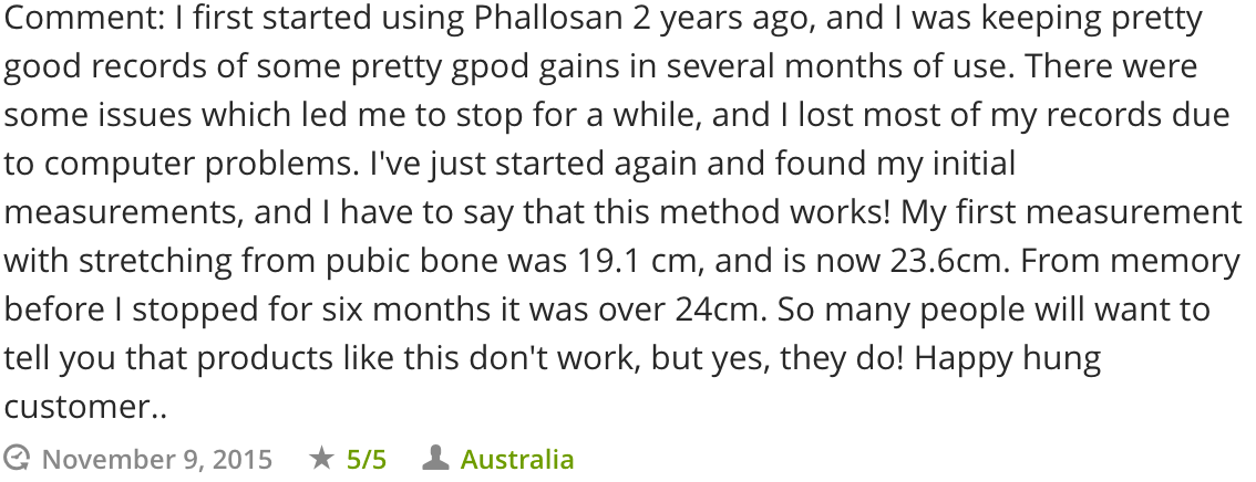 Phallosan Forte Review And Results After 2 Years
