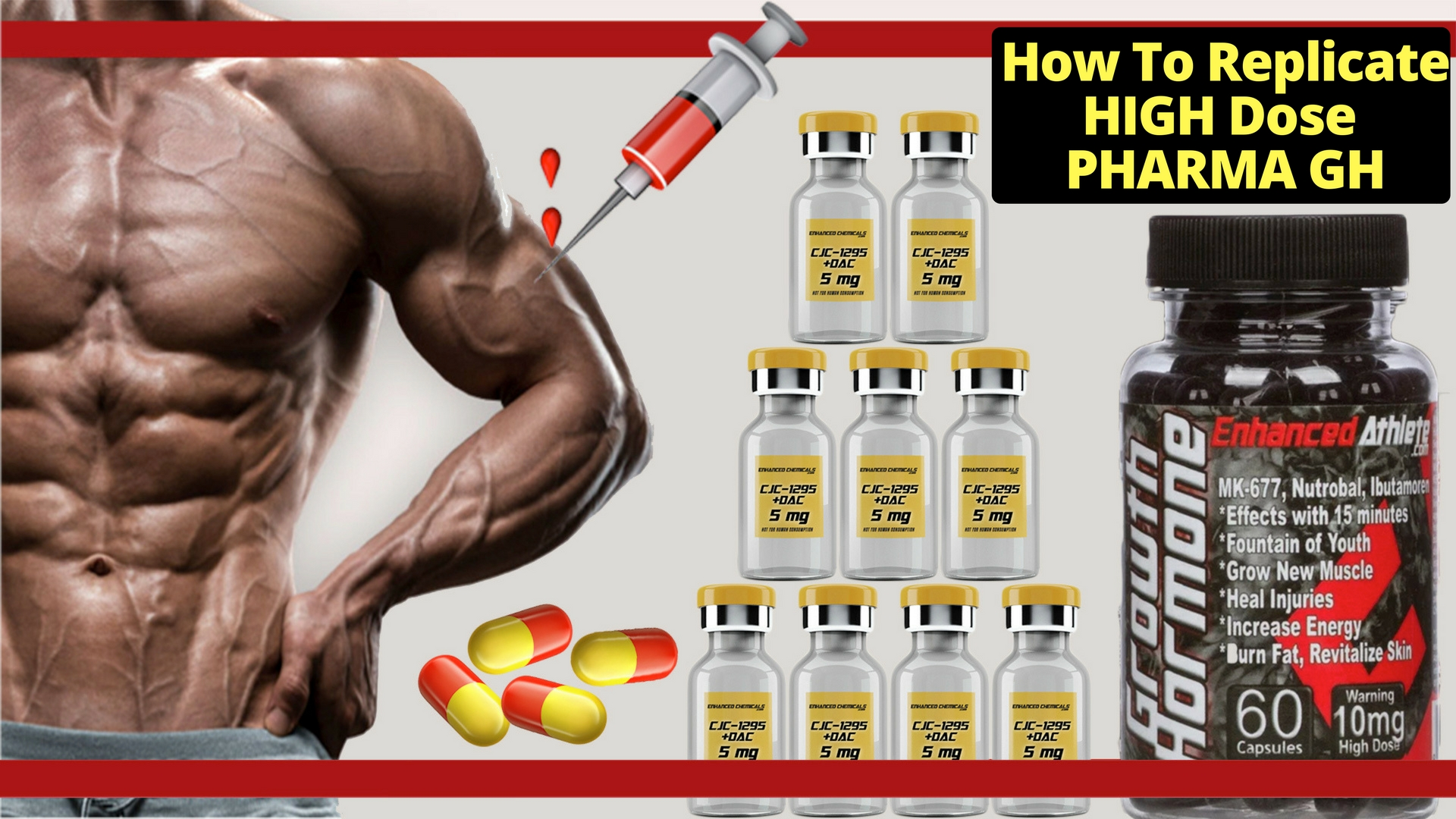 How To Replicate A HIGH Dose Of Pharma Grade GH With Peptides