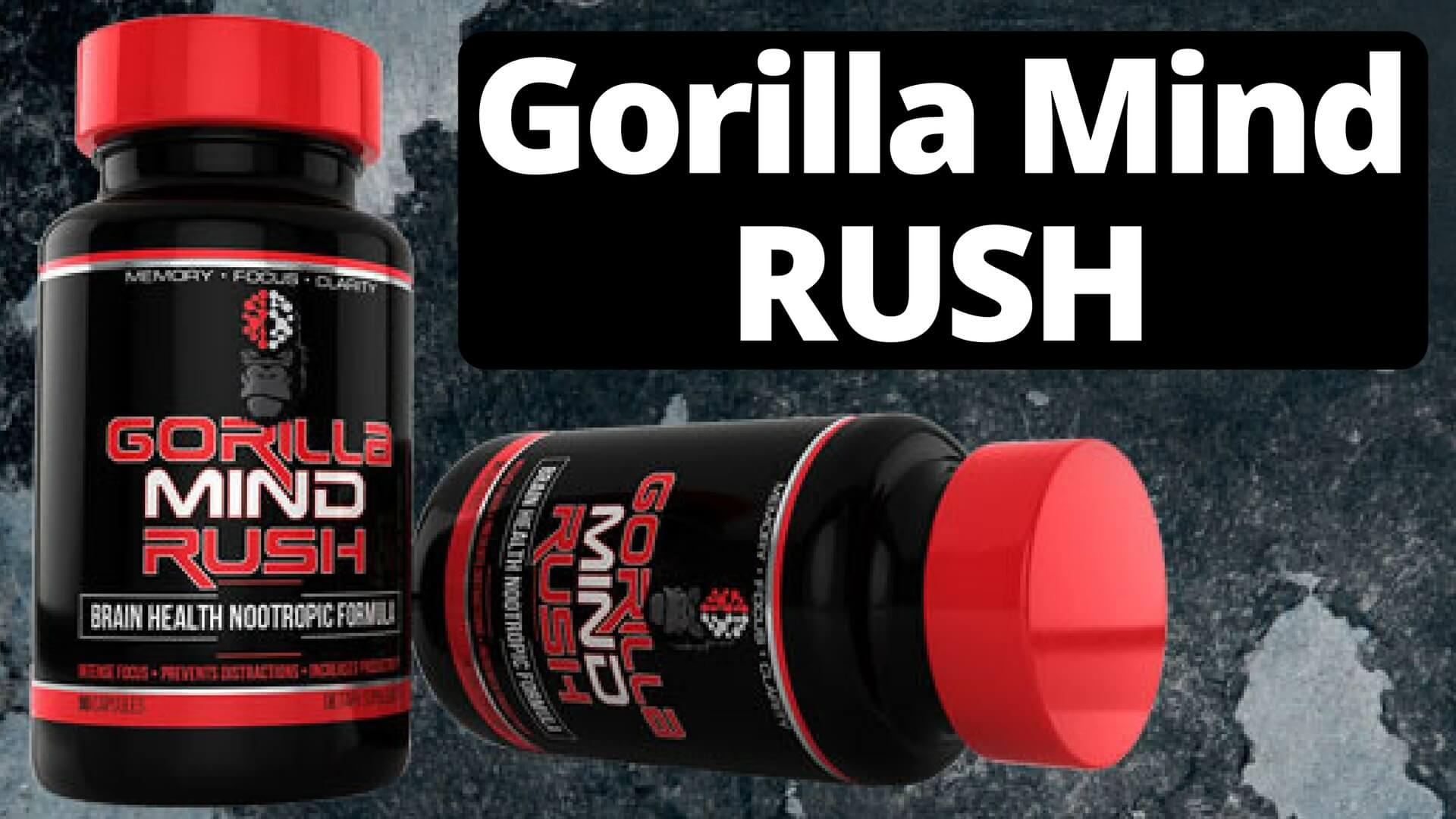 Two bottles of Gorilla Mind Rush