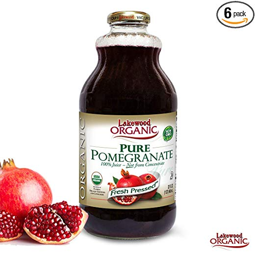 Bottle of Lakewood Organic Pomegranate Juice