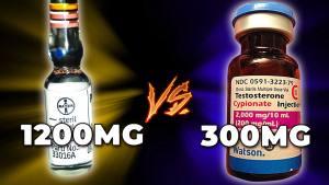 vial of Primobolan vs vial of 200 mg/mL of Testosterone Cypionate