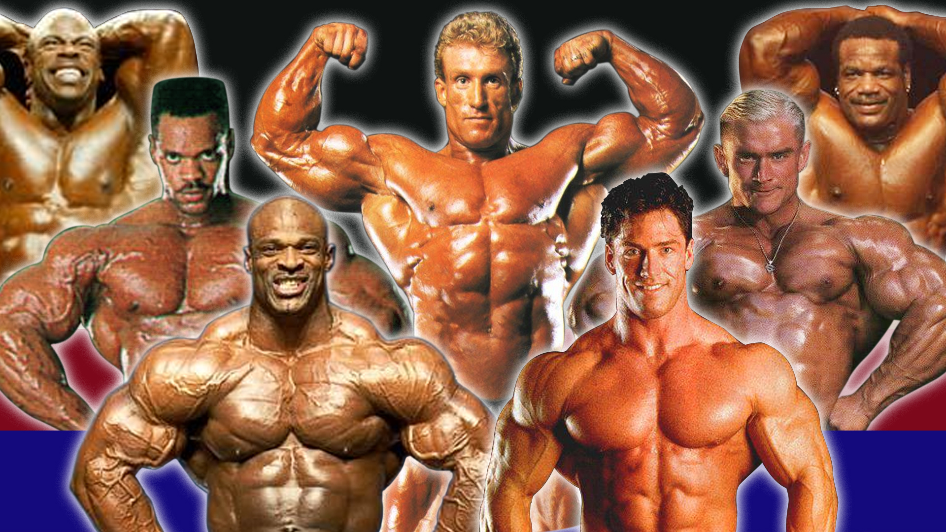 IFBB Pros in the 90s featuring Dennis Newman, Chris Cormier, Aaron Baker, Paul Dillet, Lee Priest, Ronnie Coleman and Dorian Yates