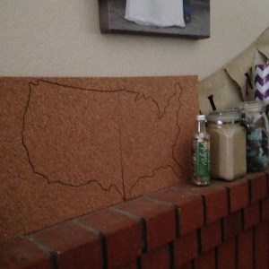 DIY Corkboard Maps