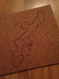 DIY Corkboard Maps | Nothing But Room