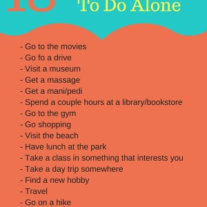 18 Ways For Moms To Get Alone Time