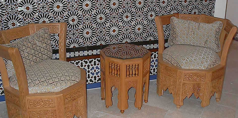 Moroccan Wood Chairs