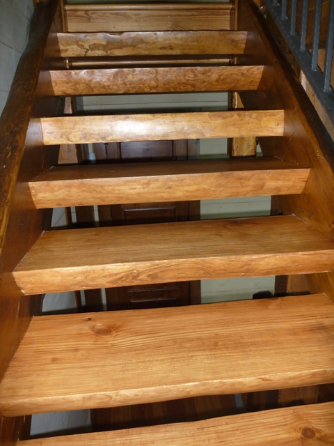 Timber stairs  handrails interior and exterior custom built by MoreSun