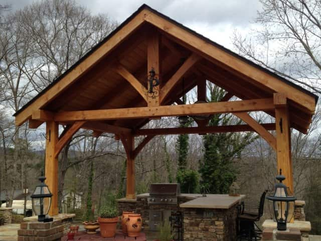 Timber Frame Outbuildings  Carports Outdoor Kitchens  More