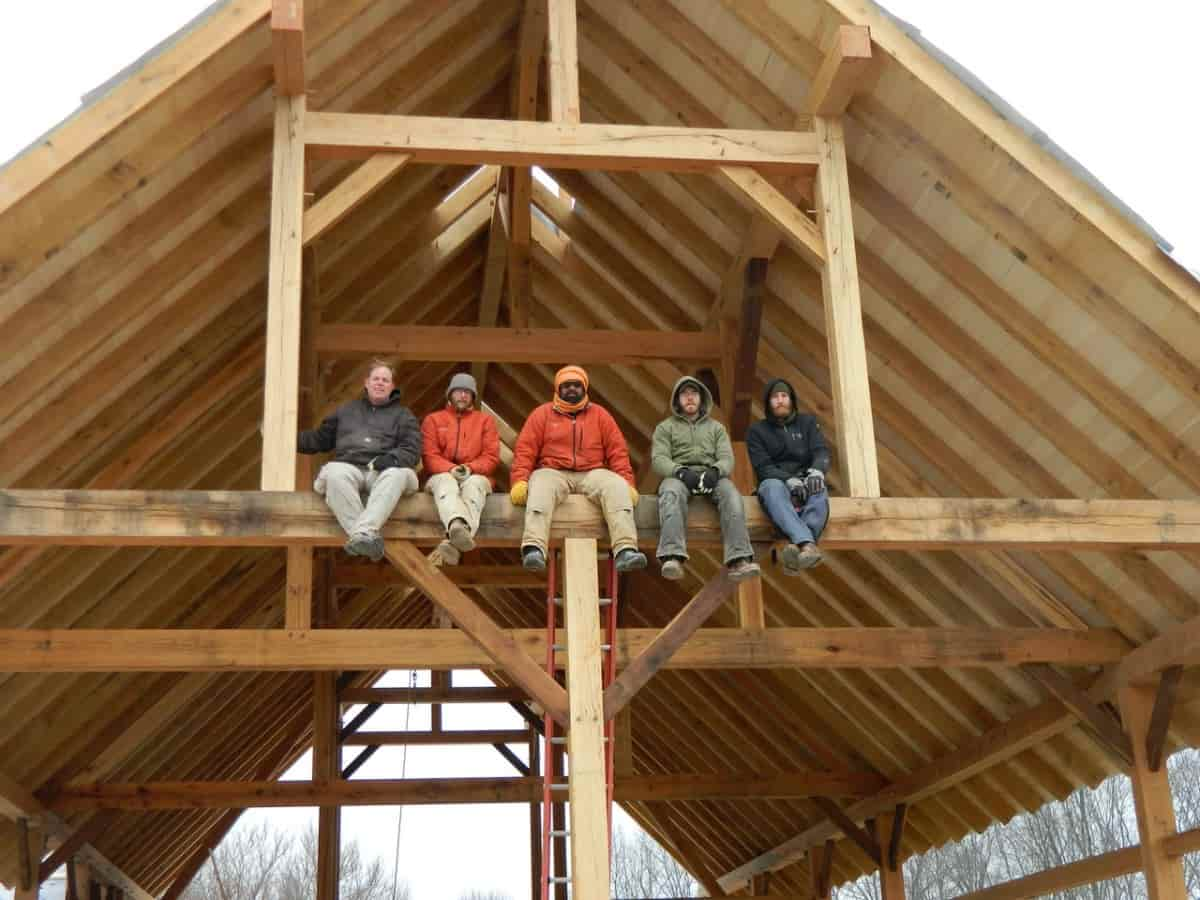 Timber Frame Barn Raising in Indiana by MoreSun