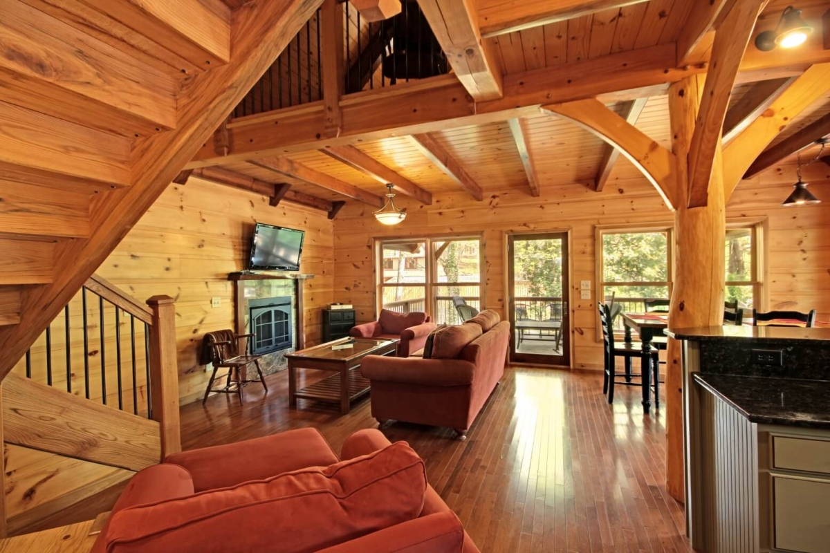 Hybrid timber frame home in Long Creek South Carolina