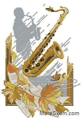 Саксофон в листьях