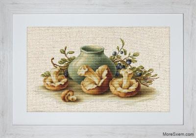 Натюрморт с грибами