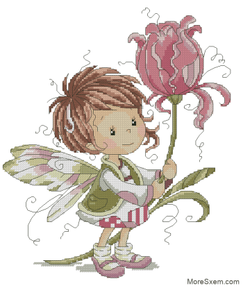 Фея с тюльпаном