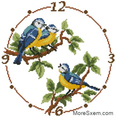 Часы с синичками
