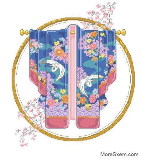 утонченное кимоно