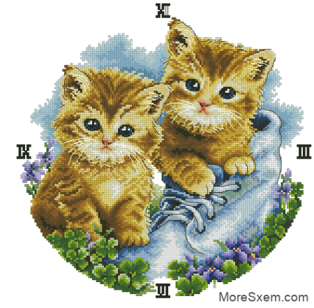 часы с котятами