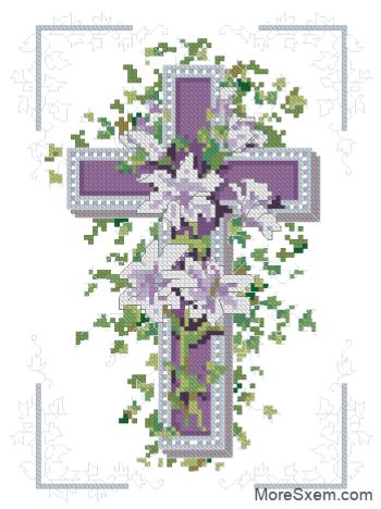Фиолетовый крест