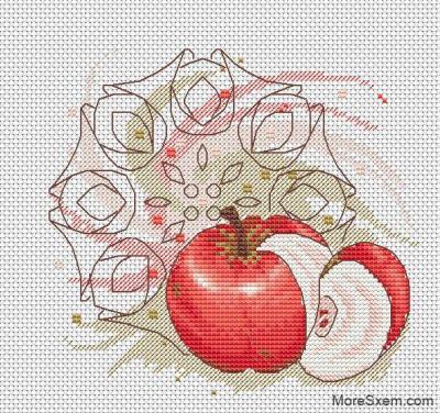 Яблочная мандала