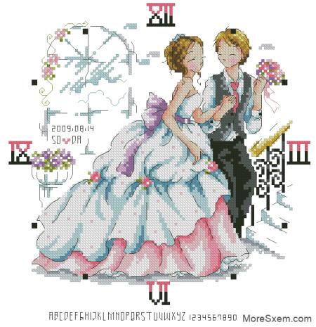 Часы со свадебной метрикой