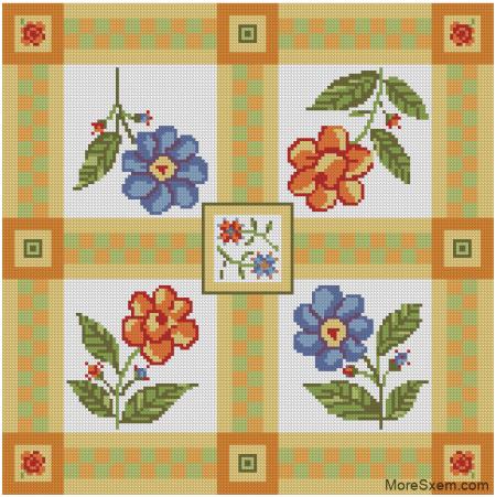 Подушка с цветочками