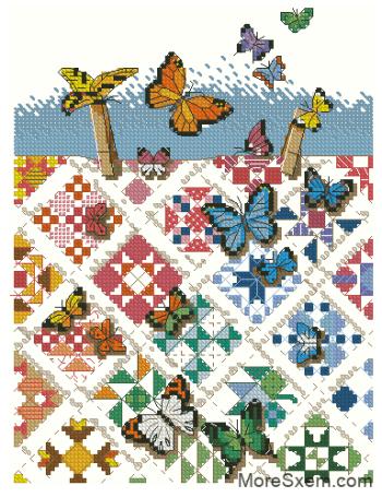 Бабочки на девяти патчах