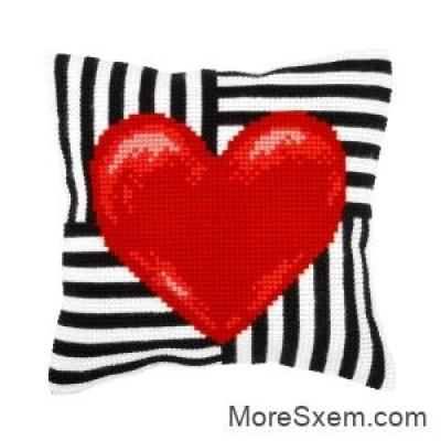 Подушка валентинка
