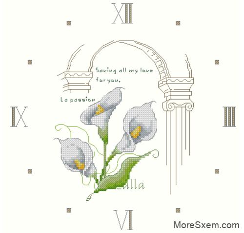 Часы с каллами