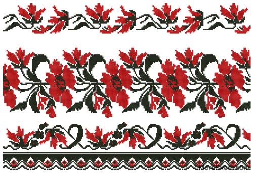 """Рушник """"Красные цветы"""""""