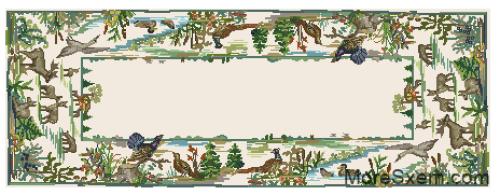 Салфетка с птицами