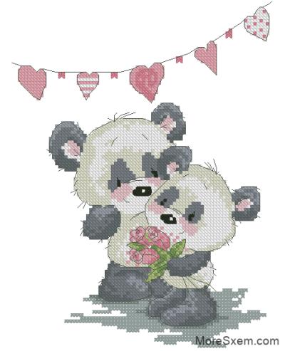 Влюблённые панды