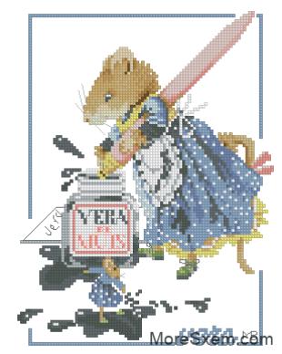 Мышь Вера чернильница
