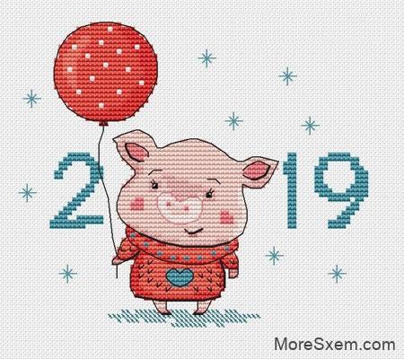 Новогодний поросенок