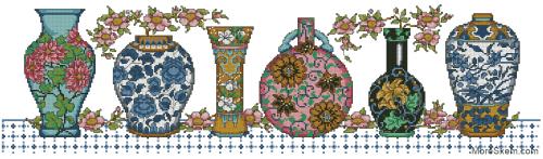 Ряд ваз
