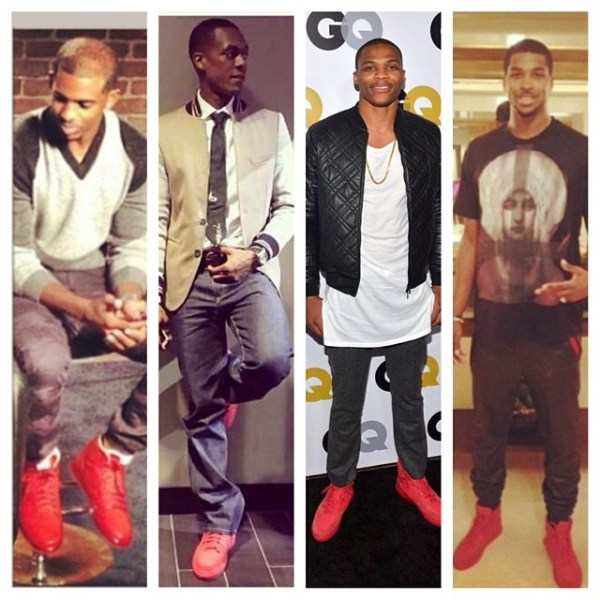 TREND: NBA Ballers Love Red Shoes