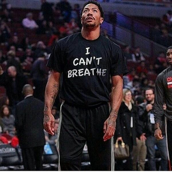 NBA Star Derrick Rose Wears 'I Can't Breathe' Shirt In Honor Of Eric Garner