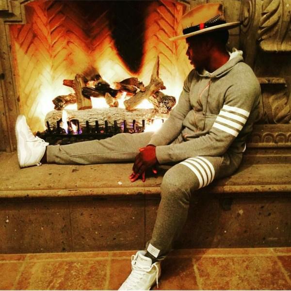 NBA Eric Bledsoe's Instagram Thom Browne Striped Sweatsuit