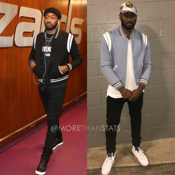 John Wall Wears Saint Laurent Teddy Men's Fashion Jacket