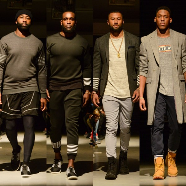 Grungy Gentleman Had A Mini Roster Of NFL Players Walk In His New York Fashion Week Fall/Winter '18 Runway Show