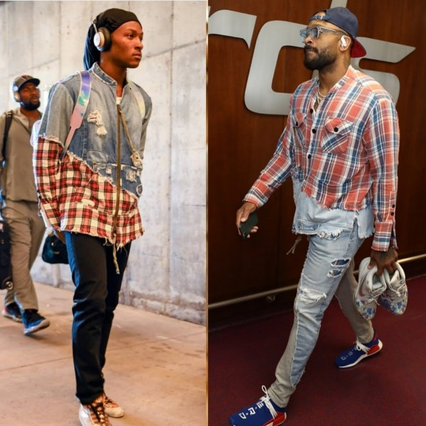 Deandre Hopkins Or P.J. Tucker Wearing Greg Lauren
