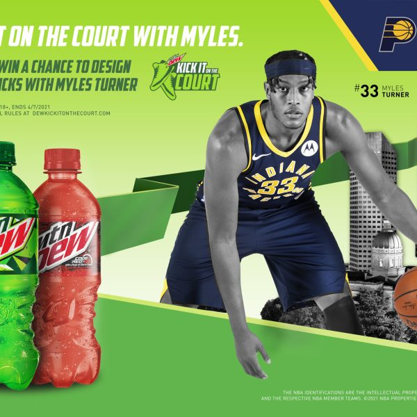 MTN DEW Gives Indiana Pacers Fans the Chance to Design Myles Turner's Shoes with Kick It On The Court Sneaker Design Contest