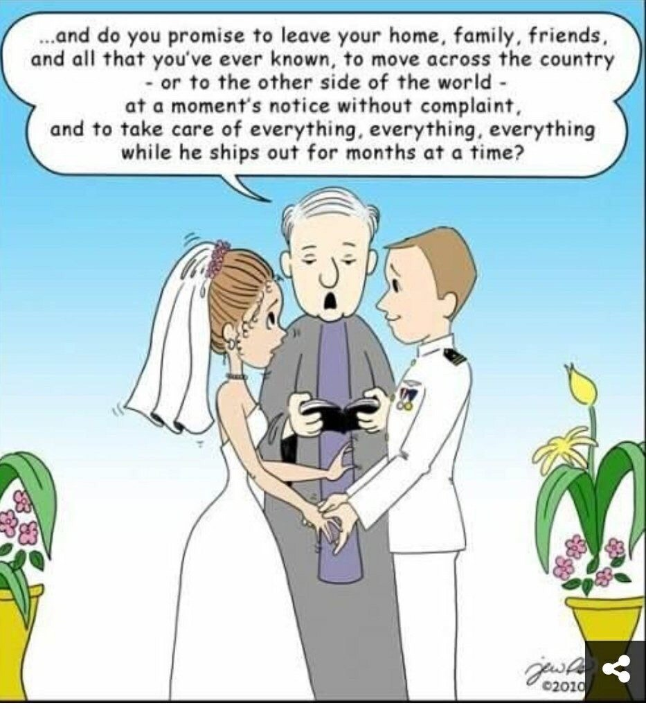 Military wedding planning funny