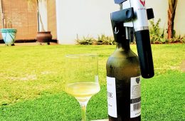 Coravin and wine glass