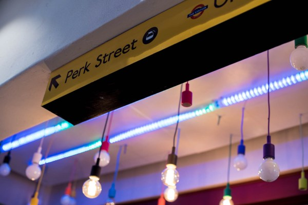 The Station on Bree Perk Street sign