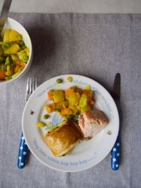 Vegetable pastries with salmon by More Than Just Carrots
