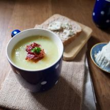 Leek and potato Soup from More Than Just Carrots