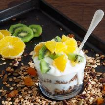 Cinnamon Granola with dried apricots from More Than Just Carrots