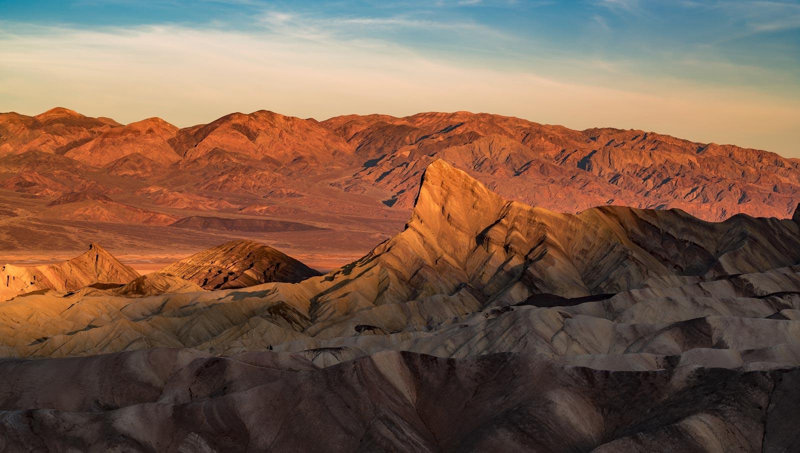 zabriskie point sunrise death valley national park california