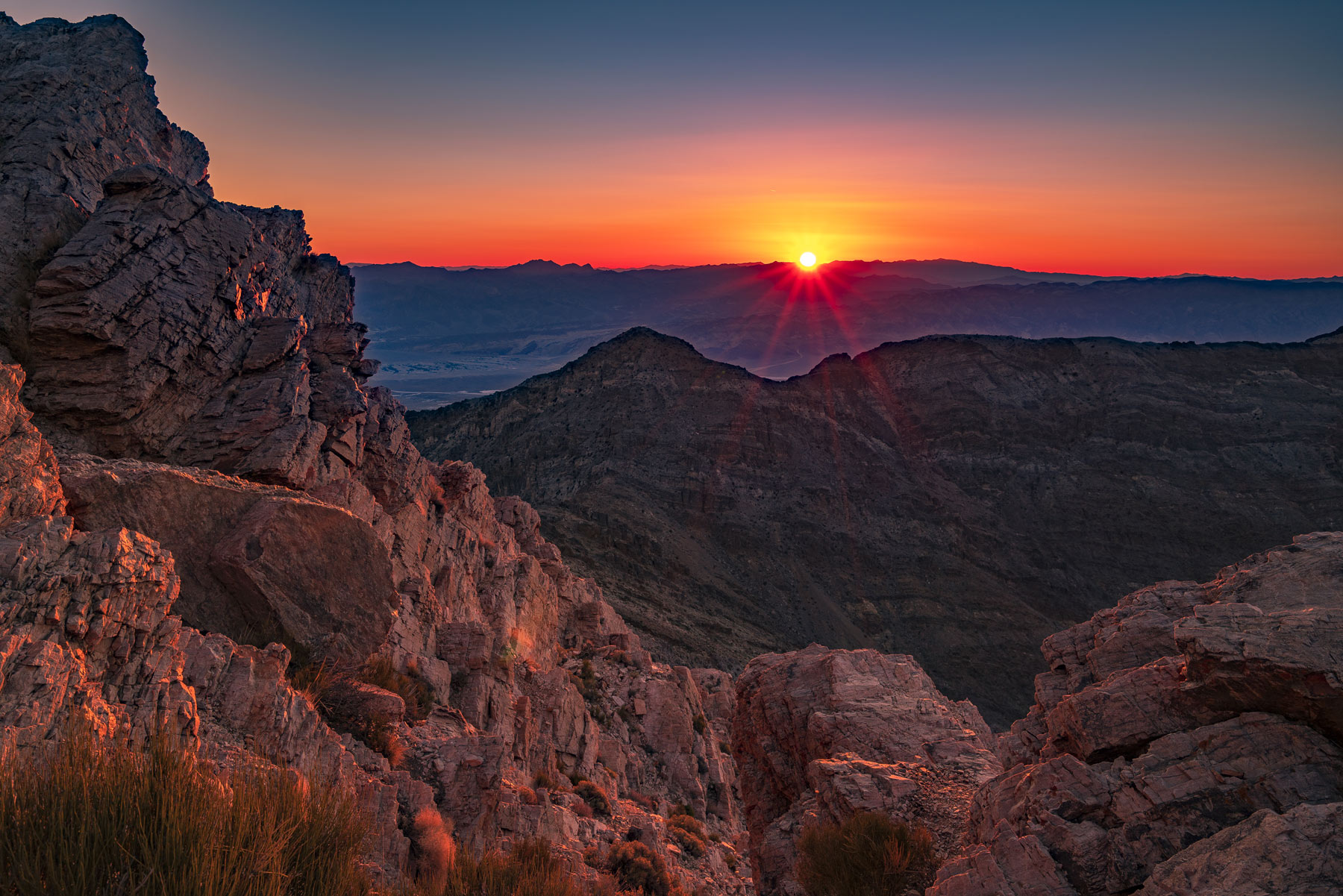 aguereberry point sunrise death valley national park